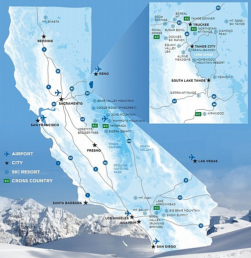 California Ski Areas; source: https://snowbrains.com/2016-california-ski-resort-opening-dates/